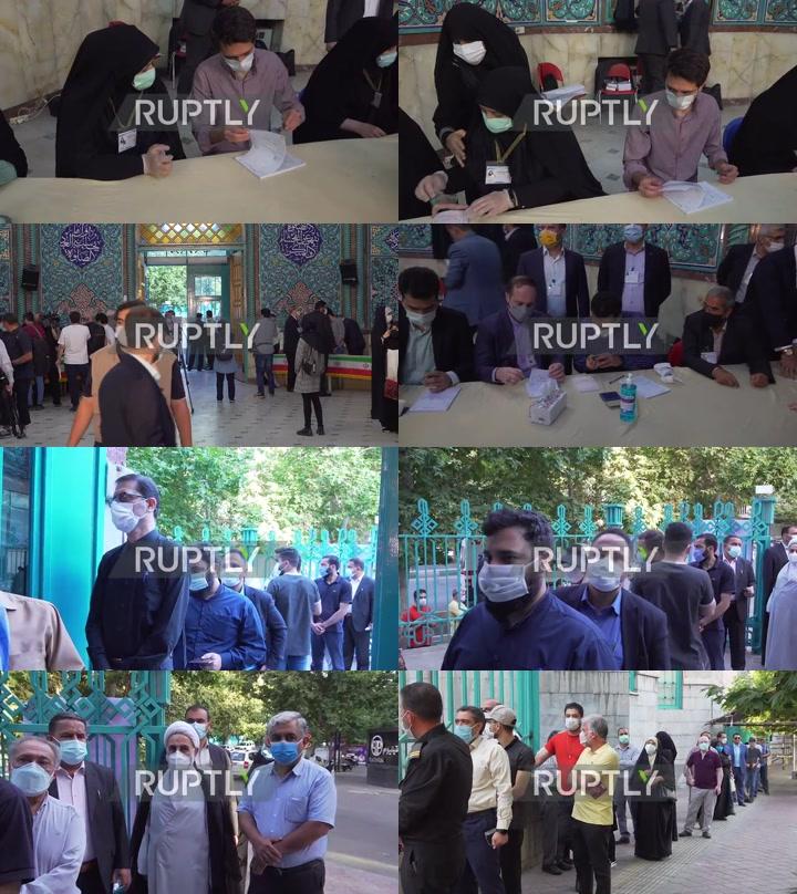 Iran: Locals queue at polling station as pres elex kick off