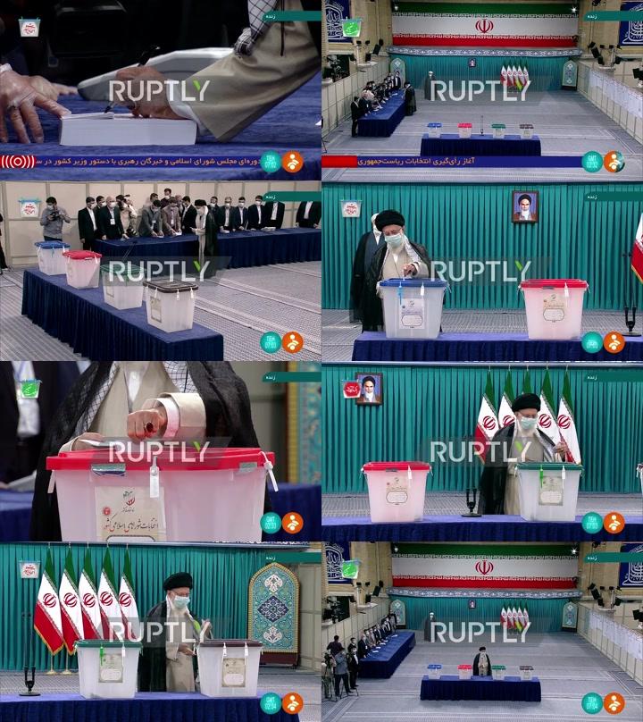 Iran: Supreme Leader Khamenei votes in pres elex