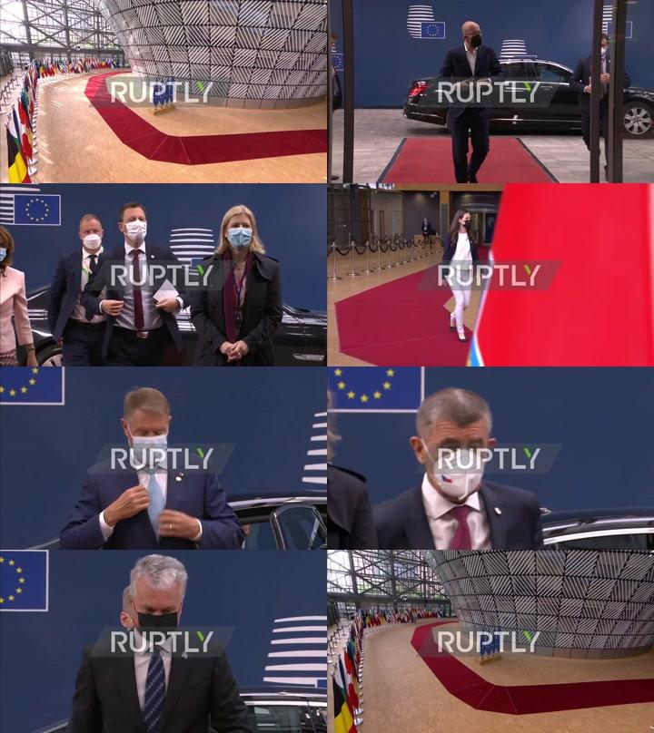 Belgium: Merkel, Macron among EU leaders to arrive for 2nd day of European Council meeting