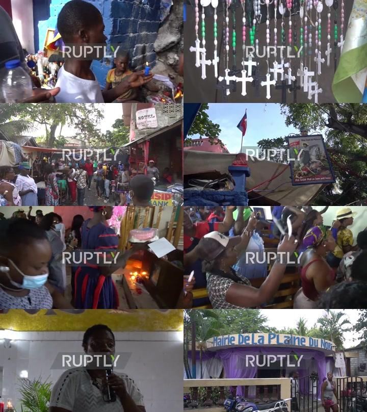 Pilgrims flock to sacred mud pool in Haitian Vodou festival
