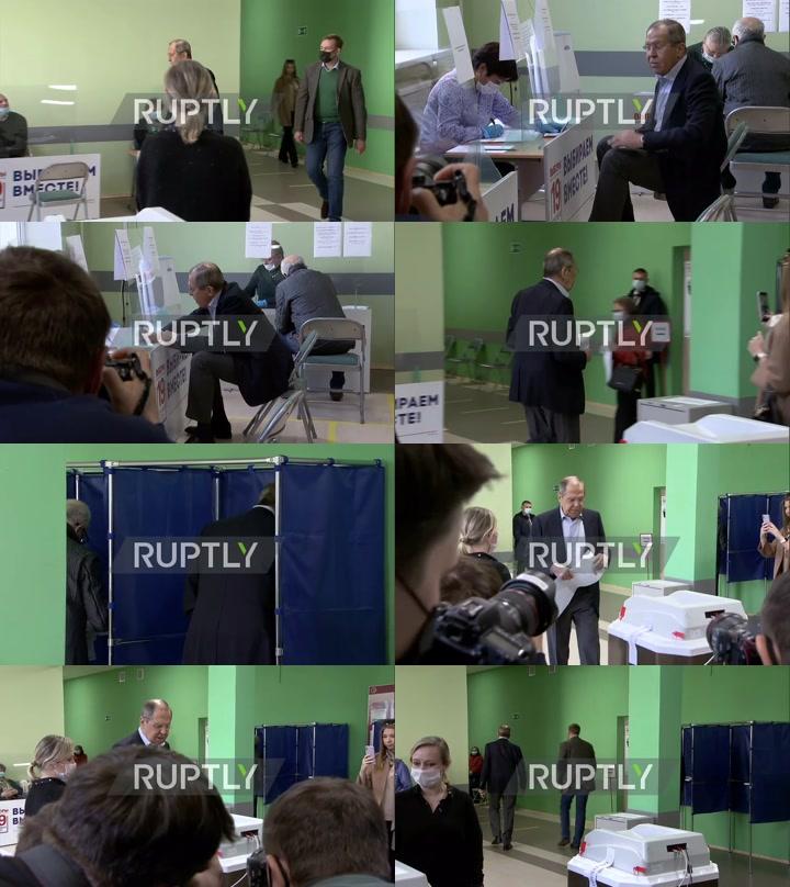 Russia: FM Lavrov votes in State Duma elections