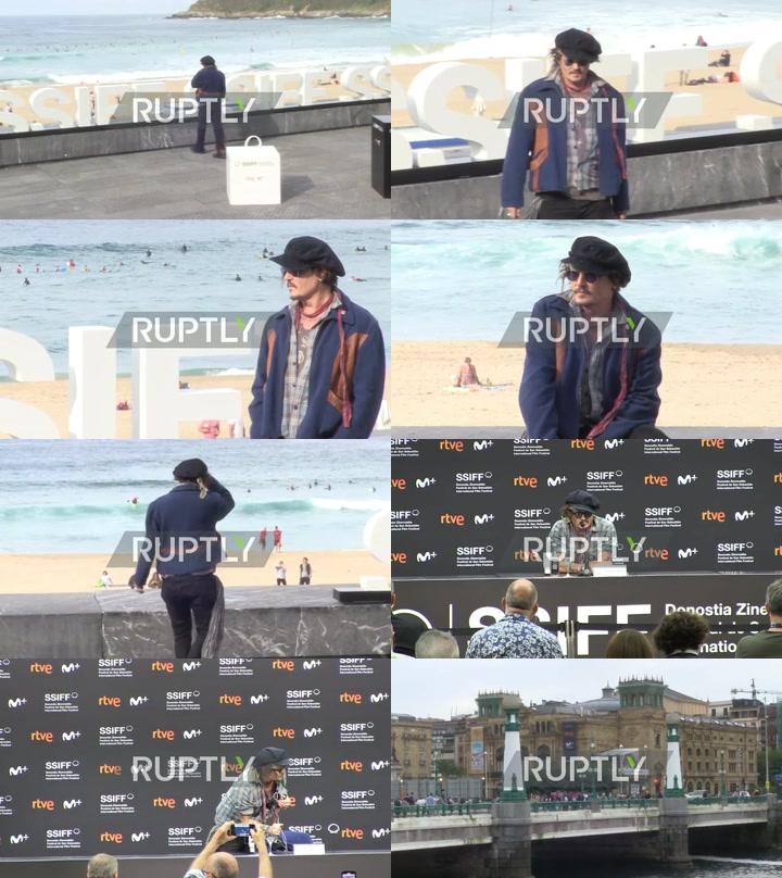 Spain: Johnny Depp greets fans before receiving Donostia Award at San Sebastian Film Festival