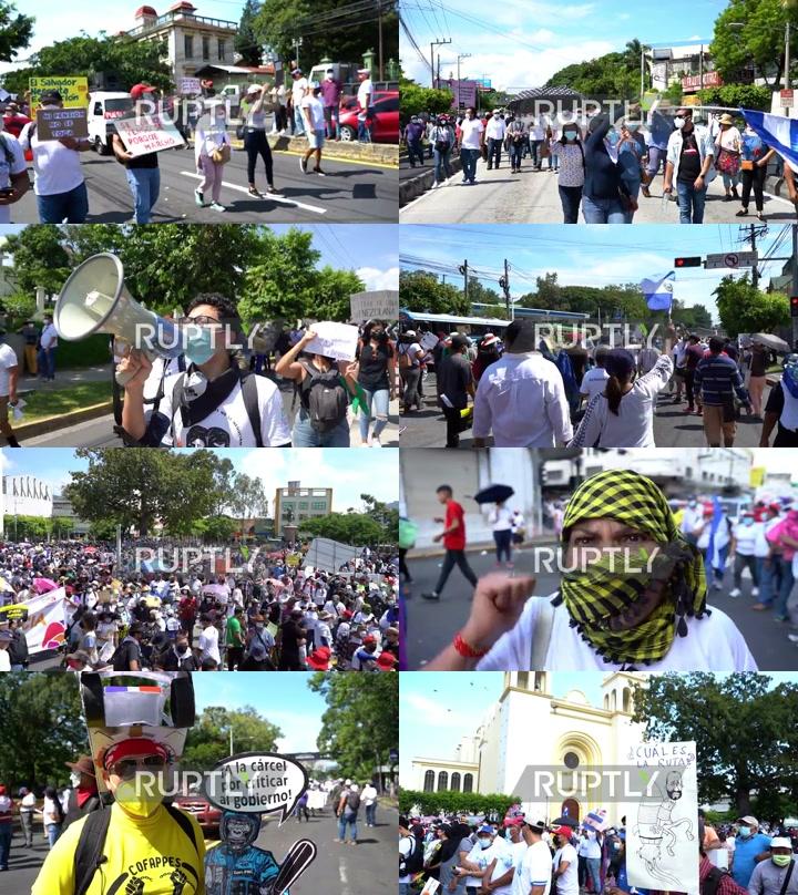 El Salvador: Hundreds march in San Salvador in anti-Bukele, anti-Bitcoin protest