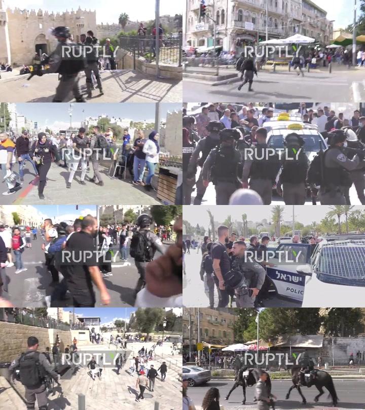 East Jerusalem: Several arrested as Israeli police disperse Palestinian protesters