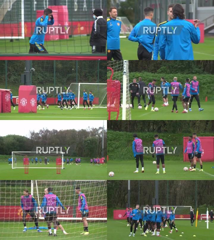 UK: Ronaldo and Man Utd train for crucial CL match vs Atalanta
