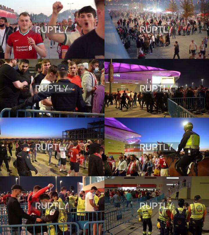 Spain: Liverpool and Atletico Madrid fans enjoy epic CL encounter at Wanda Metropolitano